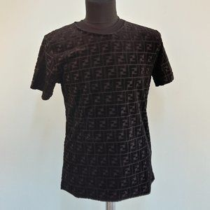 Fendi Black T-Shirt Short Sleeve